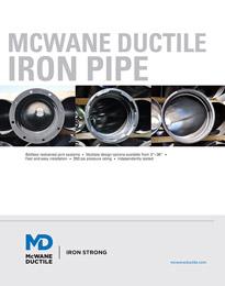 Catalogue des tuyaux en fonte ductile McWane